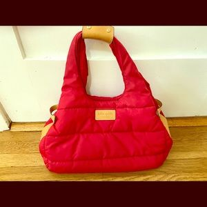 Kate Spade Stevie Alpine Hills puffy red nylon bag